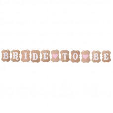 Banner - Bride to Be Brown Letter Bunting