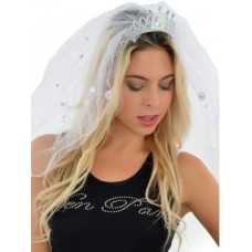 L Plate Veil with Crown