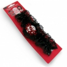 Garter - Bride to Be Black with Red Writing Flashing