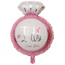 Foil Balloon - Diamond Helium Balloon I DO Pink
