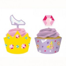 Diamond and High Heels Cupcake Wrappers and Picks Set
