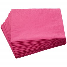 Hens Party Snack Size Napkins -  Plain Hot Pink