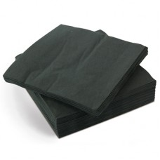 Hens Party Snack Size Napkins -  Plain Black