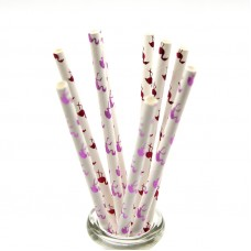 Paper Straws 10Pack - Let's Flamingle Flamingo