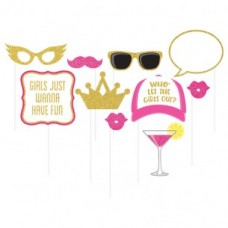 Hens Night Photo Props - 10 Pack Girls Just Wanna Have Fun