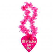 Bride to Be Lei - Hot Pink and Silver