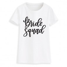 Iron On Transfer Black - BRIDE SQUAD