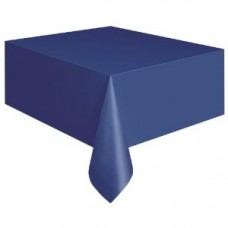 Plastic Table Cover Rectangle - Dark Blue