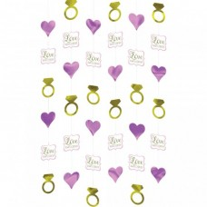 Hearts and Diamonds String Decorations Door Curtain