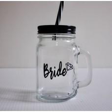 Mason Jar Black - Bride