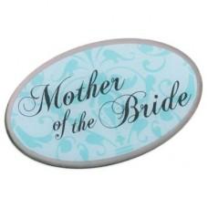 Aqua Pin Badge - Mother of the Bride