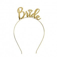 Metal Headband Bride with Diamond - GOLD