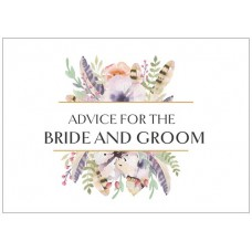 Advice Cards for the Bride to Be - Feathers