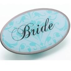 Aqua Pin Badge - Bride