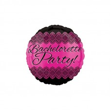 Foil Balloon - Bachelorette Party Round Lace Pink