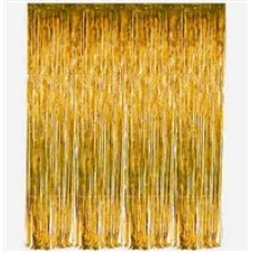 Tinsel Fringe Curtain - GOLD