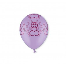 Hens Night Balloons - Peckers Purple
