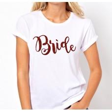 Iron On Transfer Glitter Rose Gold - BRIDE