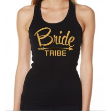 Iron On Transfer Glitter Gold - ARROW BRIDE TRIBE (CURSIVE)