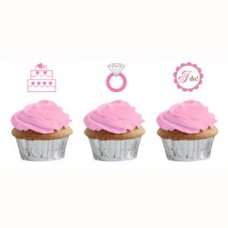 Hens Night Cupcake Toppers - Bride to Be Dots 12 Pack