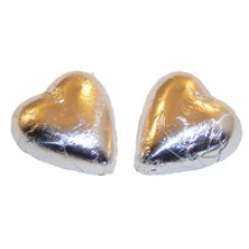 Foil Chocolate Heart - Silver