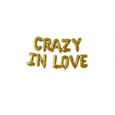 Foil Balloon Gold - CRAZY IN LOVE