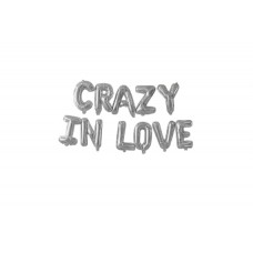 Foil Balloon Silver - CRAZY IN LOVE