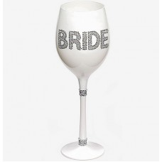 Bride White Wine Glass