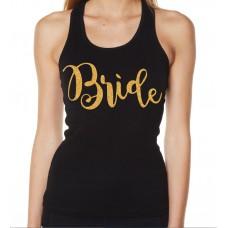 Iron On Transfer Glitter Gold - BRIDE