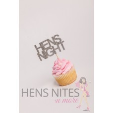 Hens Night Cupcake Toppers 10pack - HENS NIGHT SILVER