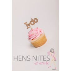 Hens Night Cupcake Toppers 10pack - I DO GOLD SMALL