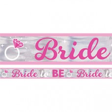 Banner - Bride to Be Silver and Pink Foil Banner