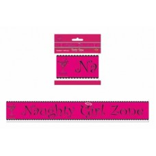 Caution Tape - Naughty Girl Zone Pink