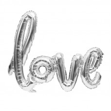 Foil Balloon Love - Silver