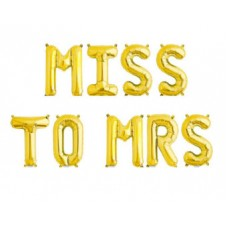 Foil Balloon Gold - MISS TO MRS
