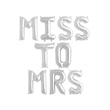 Foil Balloon Silver - MISS TO MRS