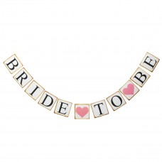 Banner - Bride to Be Letter White