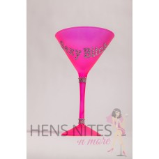 Martini Glass - Hot Pink with Diamantes SEXY BITCH