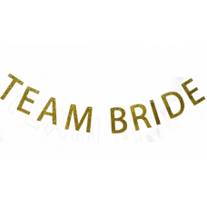 Banner - Team Bride Glitter Gold