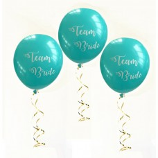 Hens Night Balloons - Team Bride Aqua