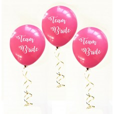 Hens Night Balloons - Team Bride Hot Pink
