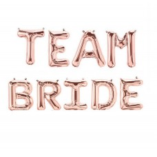 Foil Balloon Rose Gold - TEAM BRIDE