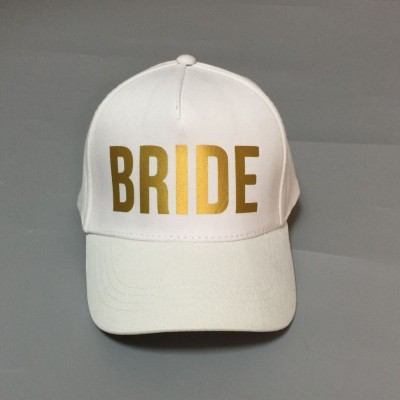 Cap Hat White with Gold Writing - BRIDE