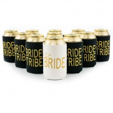 Can Cooler - Bride with Gold Writing