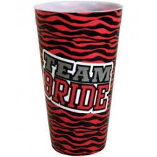 Plastic Cup Large - Team Bride Zebra Print