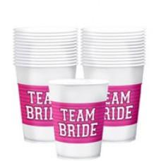 Team Bride Plastic Cups 25Pack