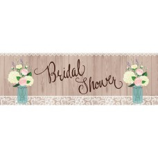 Banner - Bridal Shower Rustic Big Banner