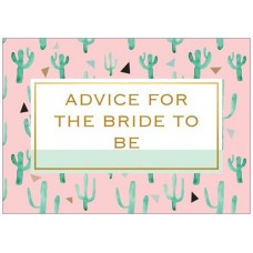 Advice Cards for the Bride to Be - Cactus