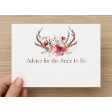 Advice Cards for the Bride to Be - Floral and Horns