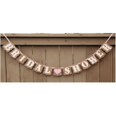 Banner - Bridal Shower Brown Bunting